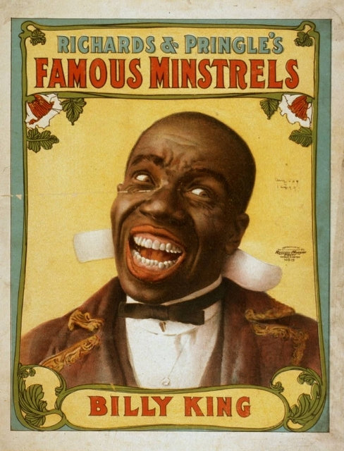minstrel shows This was a type of show that included white people dressing up as black people and making fun of black people minstrel shows were quite popular in the time after the civil war and lasting up into .